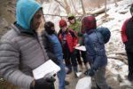 Boynton Middle School students collecting samples around Cayuga Lake